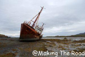 islande bateau échoué